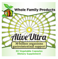 Alive Probiotics with 5 billion live active cultures per serving