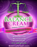 Balance Cream Natural Progesterone 1200mg USP progesterone per 2 oz tube