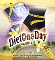 Diet One Day wafers tablets diet one day and off the next 200 tablets per bottle