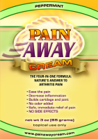 Pain Away Cream peppermint or unscented jojoba oil arthritis pain joint care cream