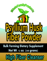 Psyllium seed husk powder for detoxification and cleansing of intestines and bowel