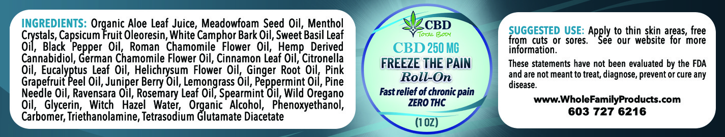 1oz CBD Freeze Pain Roll On Label