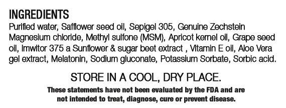 3M Sleep Label Ingredients