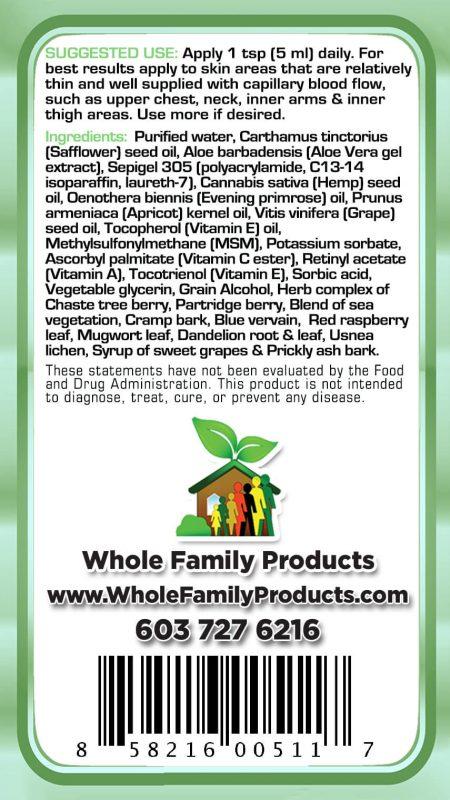 Adrenal Care Back Label