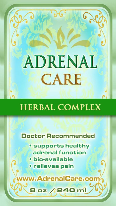 Adrenal Care Front Label