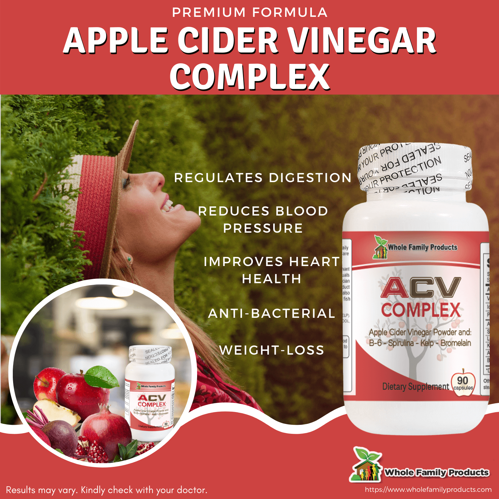 Apple Cider Vinegar Complex for Weight Loss WFP Infographics