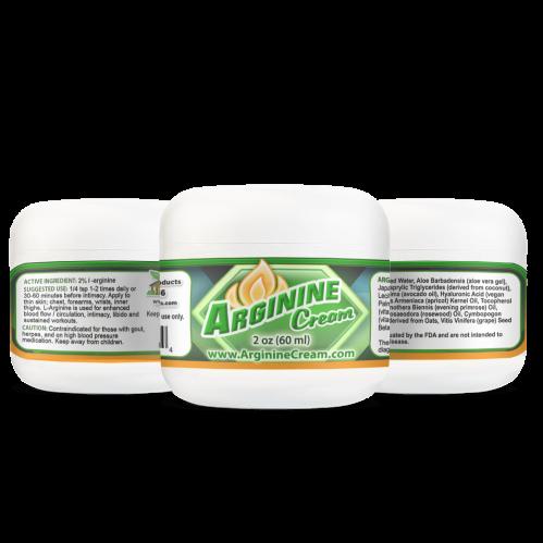 Arginine Cream 2% 2oz Jar Topical L-Arginine Cream