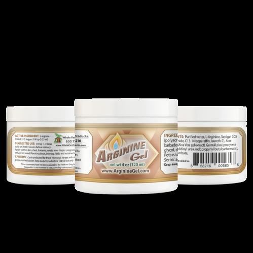 Arginine Gel 4oz Jar Helps Sexual Dysfunction & Infertility Issues