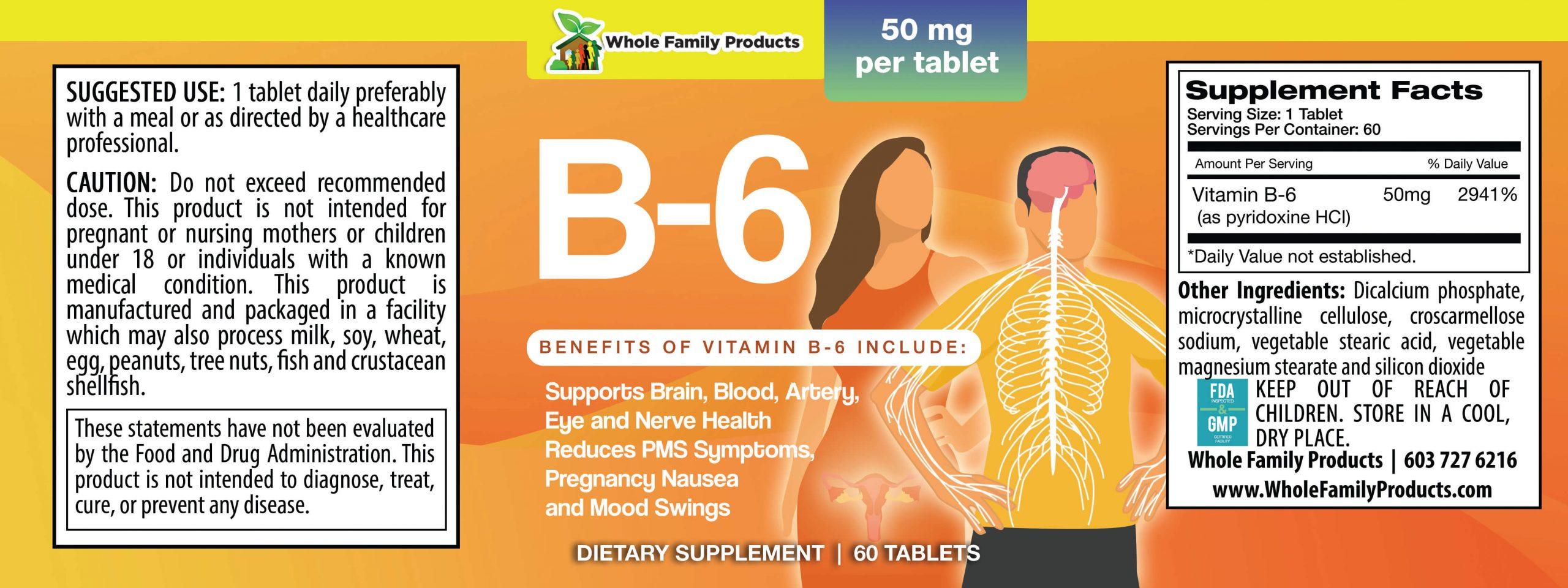 B6 WFP Product Label