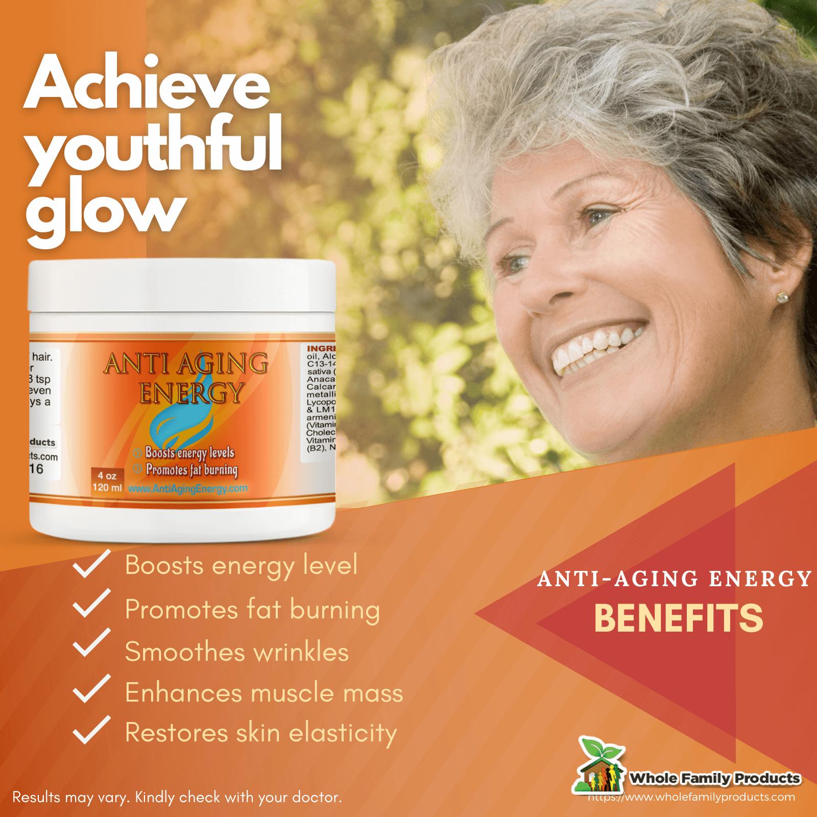 Best Anti Aging Energy Cream WFP Infographics