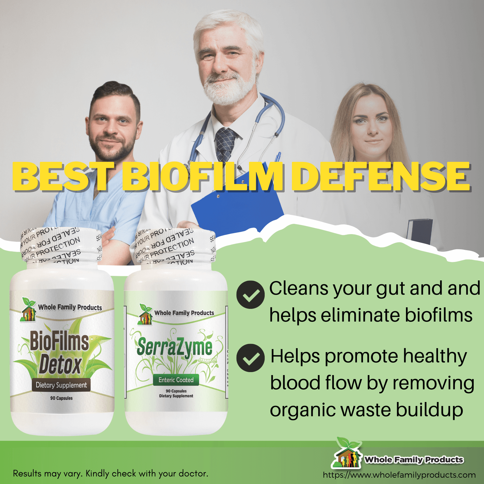 Best Biofilm Defense Infographic Biofilm Detox and Serrazyme Enzyme