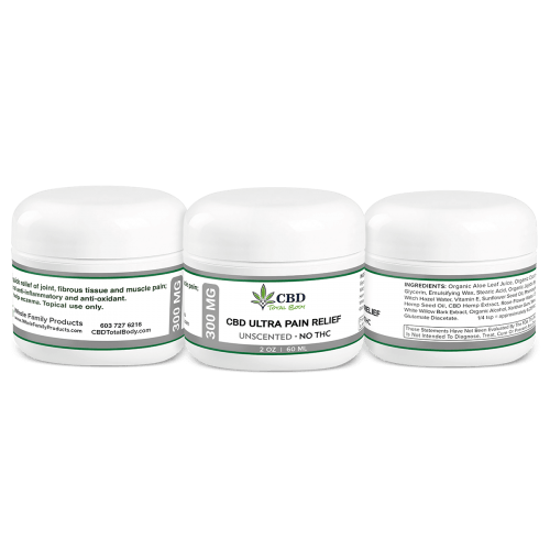 Best CBD Ultra Pain Relief Unscented Cream For Muscle and Joint Pain