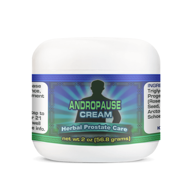Best Natural Male Andropause Cream 2oz Jar
