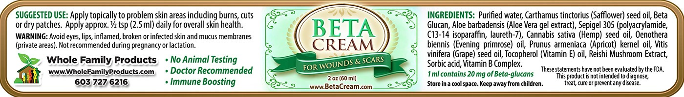 Beta Cream 2oz Jar