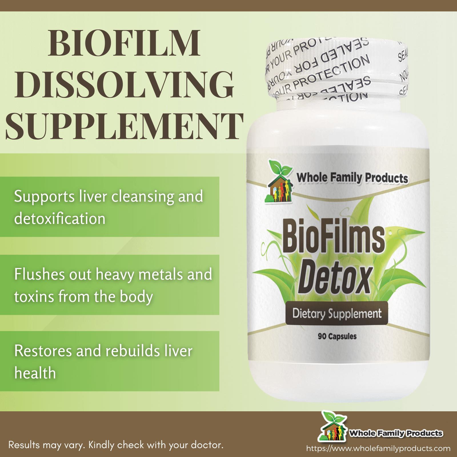 Biofilms Detox Biofilm Dissolving Supplement Infographic