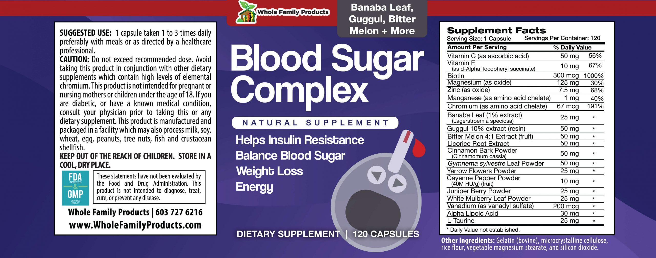 Blood Sugar Complex 120 Capsules Product Label.jpg