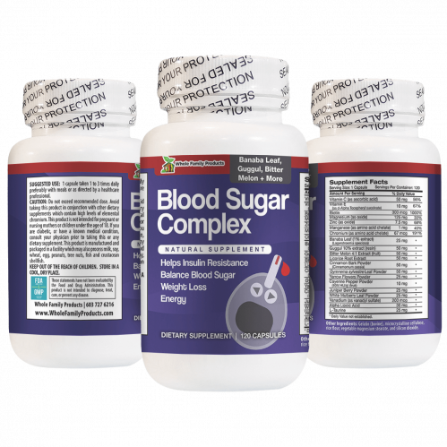 Blood Sugar Complex 120 Capsules with Banaba Leaf, Guggul and Bitter Melon