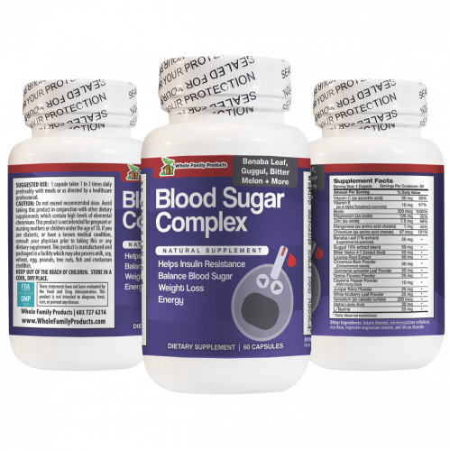 Blood Sugar Complex 60 Capsules Natural Supplement for Weight Loss