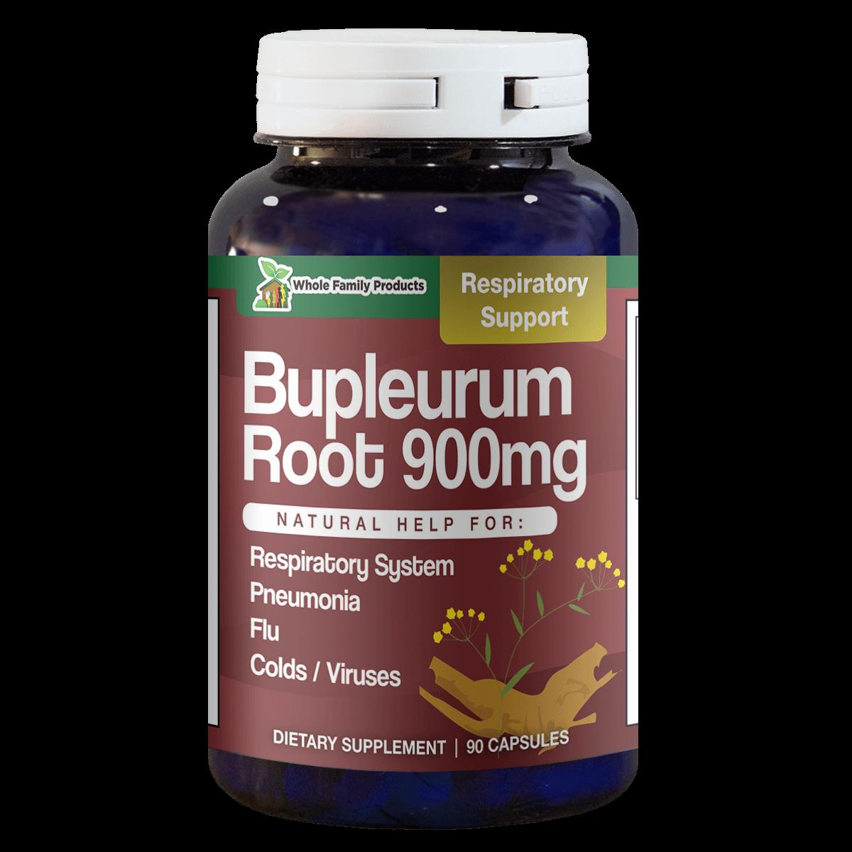 Bupleurum Root 900mg 90 Capsules Natural Help For Respiratory System and Pneumonia