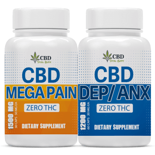 CBD DepAnx and CBD Mega Pain Herbal help for pain, anxiety and depression