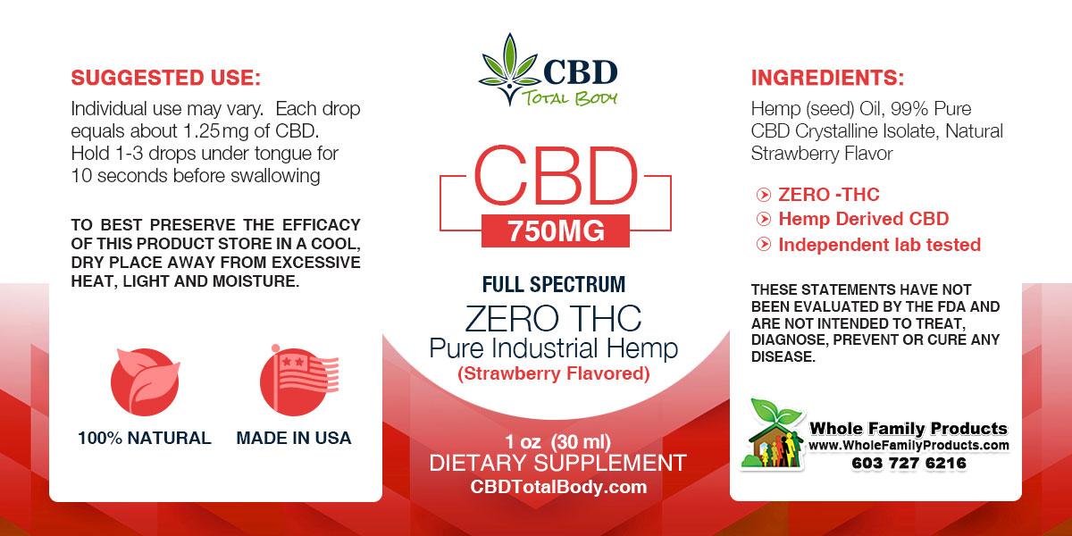 CBD Full Spectrum Strawberry Label