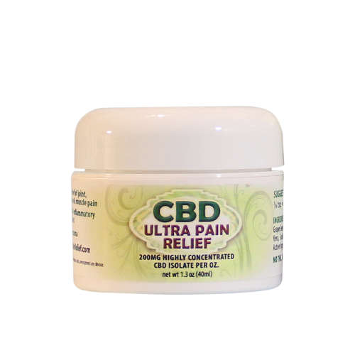 CBD Ultra Pain Relief Cold Processed 1.3 oz Jar | Whole Family Products