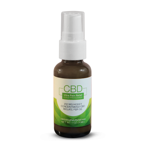 CBD Ultra Pain Relief Cold Processed 1oz Pump Glass | Whole Family Products