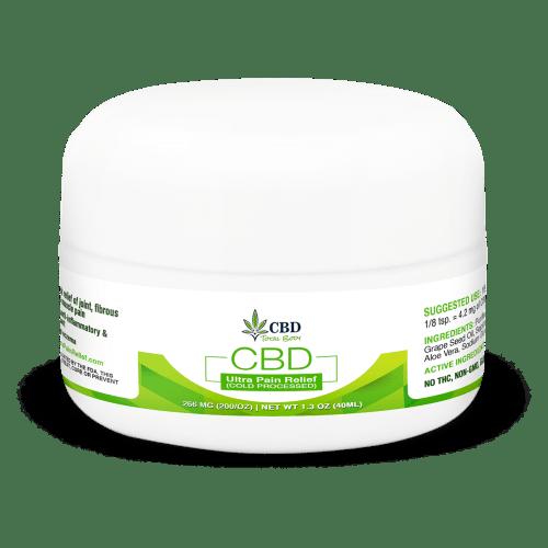 CBD Ultra Pain Relief Cream Cold Processed Alleviating Symptoms of Eczema