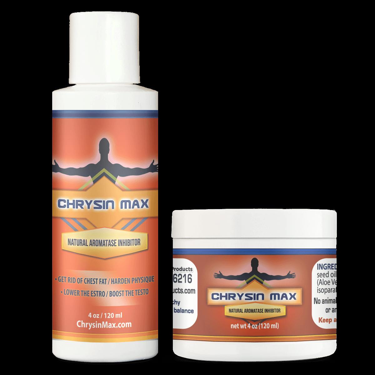 Chrysin Max Best Natural Aromatase Inhibitor Transdermal Cream