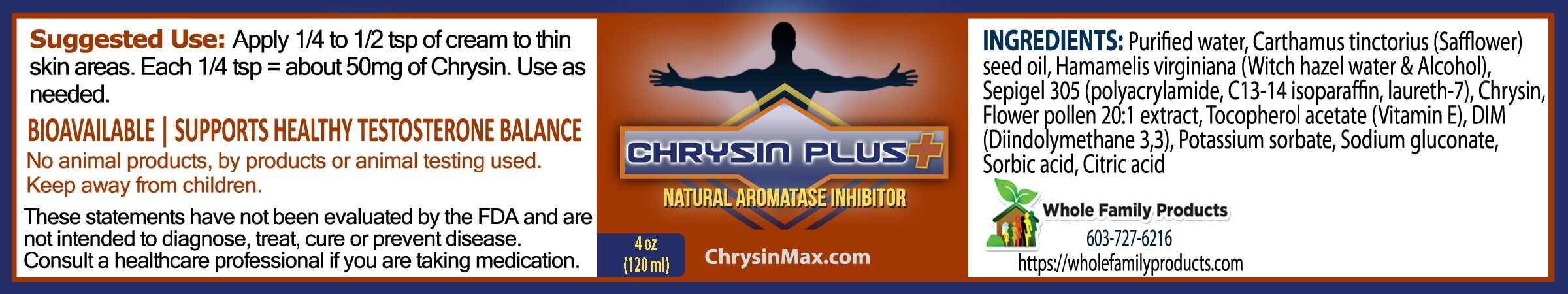 Chyrisin Plus 4oz Jar Label
