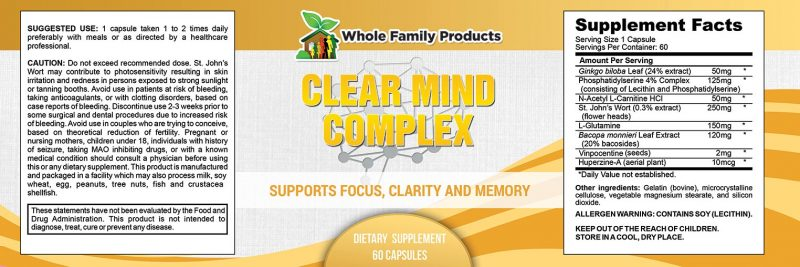 Clear Mind Complex Label