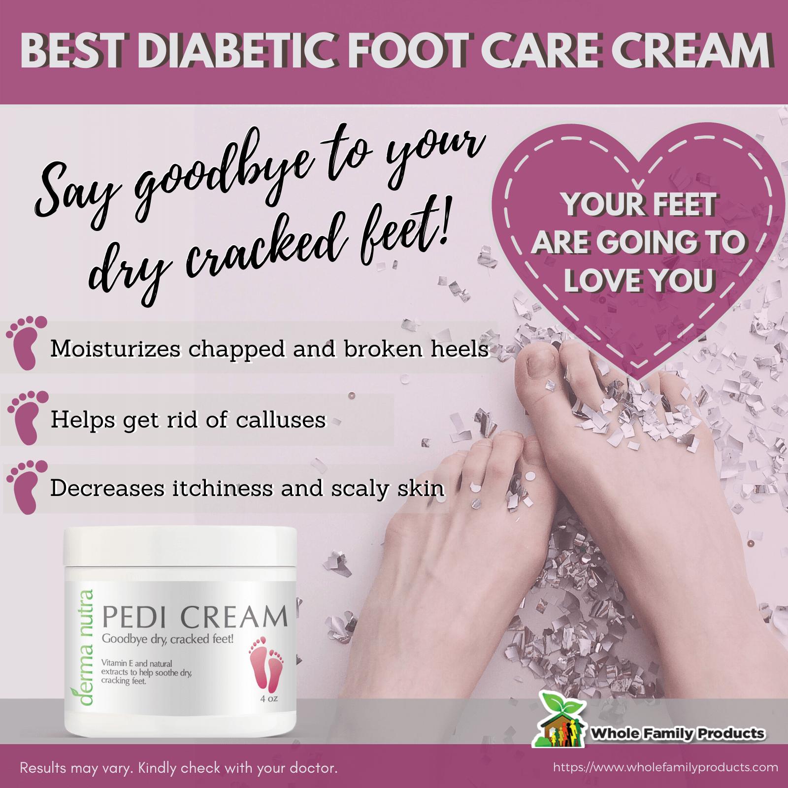 Derma Nutra Pedi Cream Best Diabetic Foot Care Cream Infographic