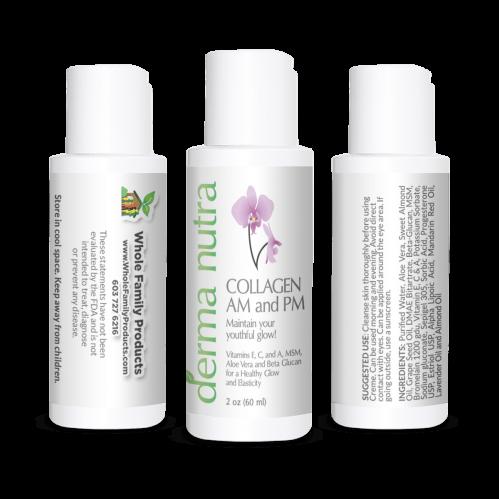 DermaNutra Collagen AM and PM Cream 2oz Fliptop
