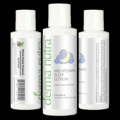 DermaNutra Melatonin Sleep Lotion 4 oz Pump