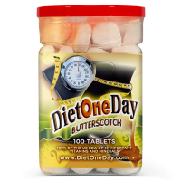 Diet One Day Wafers Butterscotch Flavor 100 Tablets