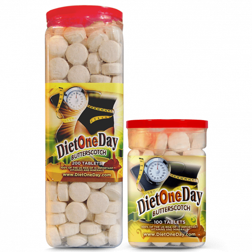 Diet One Day Wafers Butterscotch Flavor 100 and 200 Tablets