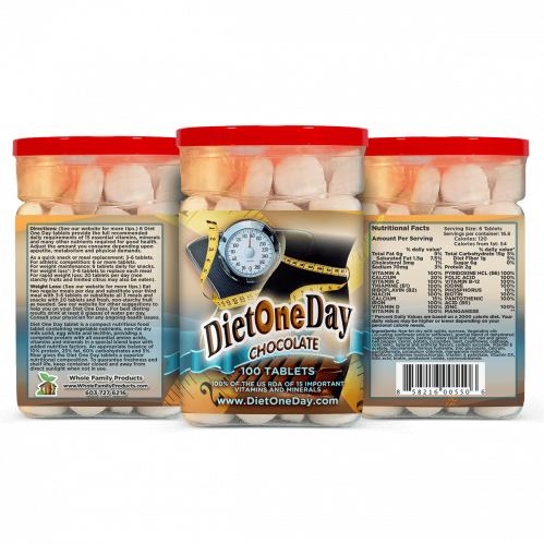 Diet One Day Wafers Chocolate 100 Tablets