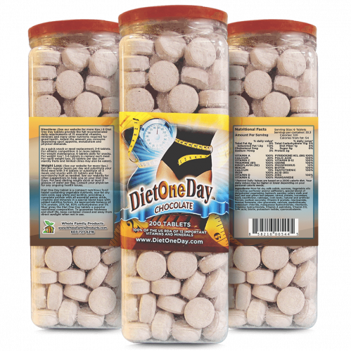 Diet One Day Wafers Chocolate 200 Tablets