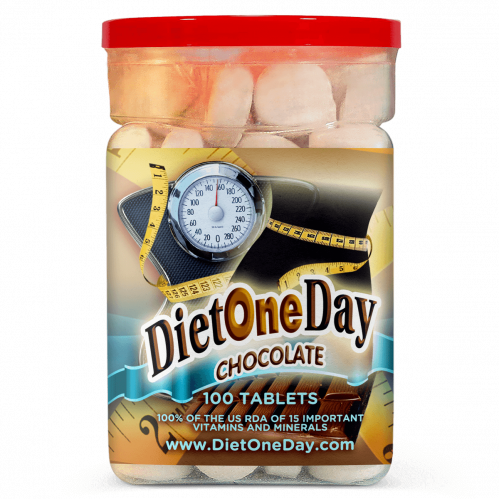 Diet One Day Wafers Chocolate Flavor 100 Tablets