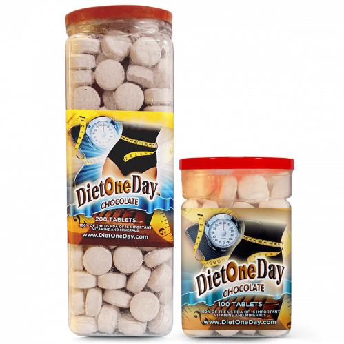 Diet One Day Wafers Chocolate Flavor 100 and 200 Tablets