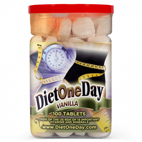 Diet One Day Wafers Vanilla Flavor 100 Tablets