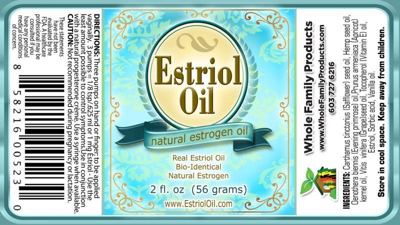 Estriol Oil 2 oz Pump Label