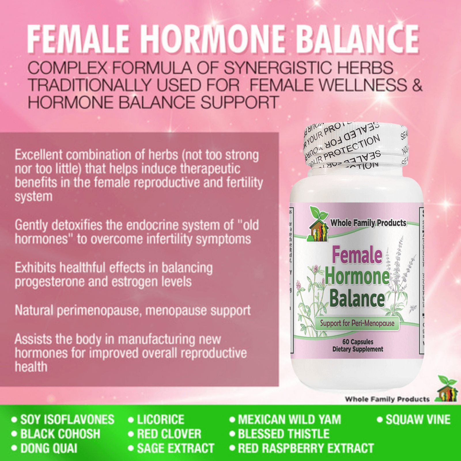 Female Hormone Balance WFP Infographics
