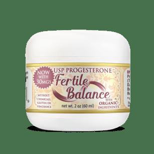 Fertile Balance Organic USP Progesterone Cream Help For Hormone Boost Fertility