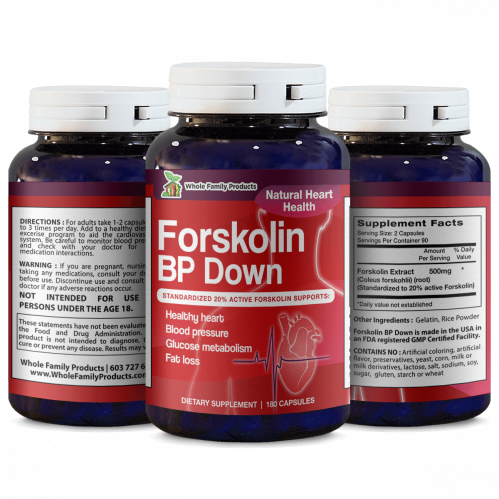 Forskolin BP Down 180 Capsules Natural Heart Health