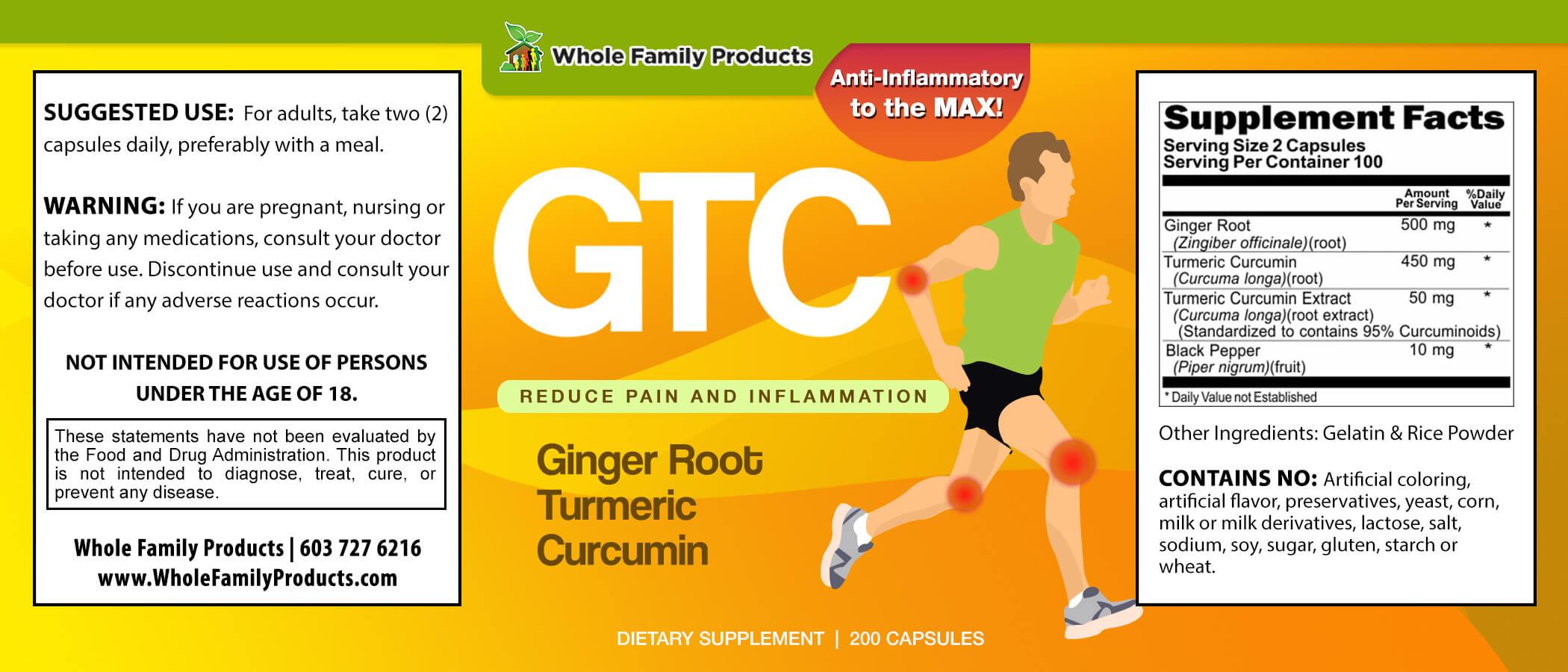 GTC 200 Capules WFP Product Label