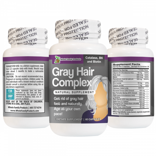Gray Hair Complex Get Rid of Gray Hair Fast and Naturally