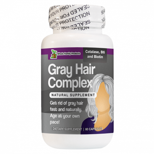 Gray Hair Complex Natural Supplement to Get Rid of Gray Hair
