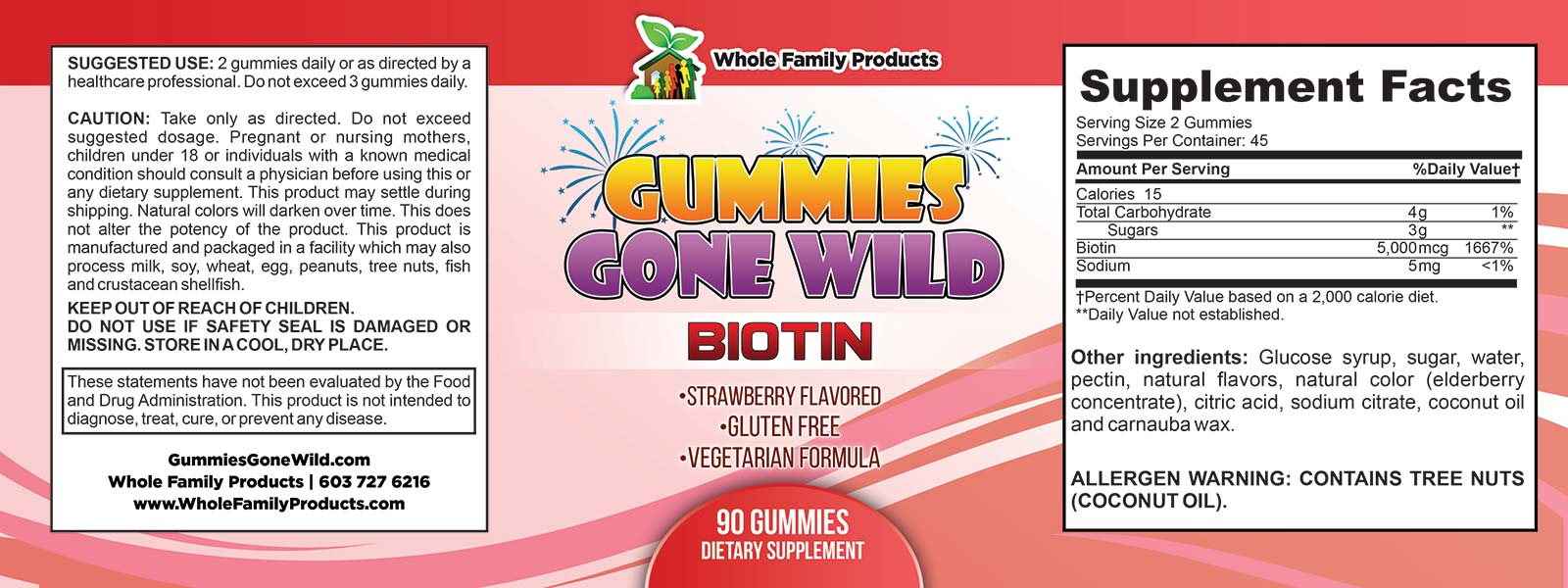 Gummies Gone Wild Bioton Label