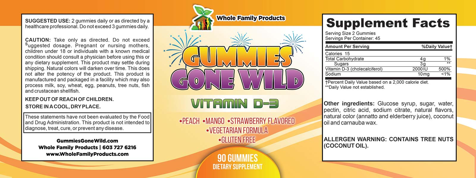 Gummies Gone Wild Vitamin D3